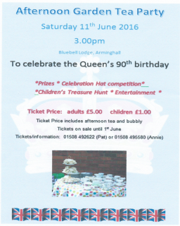 Queen's birthday tea party, Arminghall