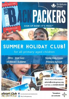 BACKPACKERS! Allstars Summer Club