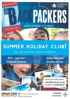 BACKPACKERS! Allstars Summer Club